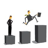 двигать дела бизнесмена передний никакой что Стоковые Изображения RF