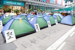 Движение зонтика в Гонконге Стоковое Изображение RF