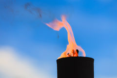 Движение пламени огня Стоковая Фотография RF
