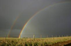 двойная радуга Стоковая Фотография