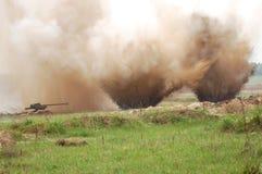 двойник взрыва Стоковые Фотографии RF