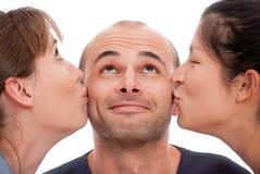 двойной поцелуй Стоковые Фото