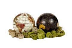 Двойные глобусы Стоковая Фотография