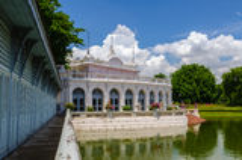 Дворец боли челки, Ayuthaya, Таиланд Стоковые Фото