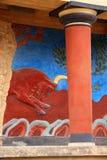 дворец knossos Крита Греции Стоковая Фотография