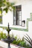 Двор с фонтаном Стоковое Изображение RF