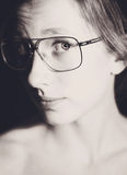 Девушка с стеклами Стоковая Фотография RF