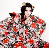 Девушка Азии японская cosplay Kabuki Стоковое фото RF
