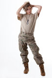 Девушка 10 армии Стоковая Фотография