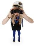 девушка биноклей Стоковое Изображение RF