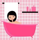 девушка ванны Стоковое фото RF