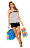 девушка вне ходя по магазинам Стоковые Изображения RF