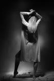Девушка в женское бельё Стоковая Фотография