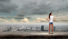 Девушка в краткостях Стоковая Фотография RF
