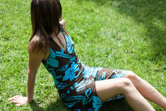Девушка в природе Стоковое Фото