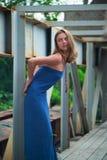 Девушка в сини Стоковое Изображение RF