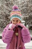 Девушка в снеге Стоковое Фото