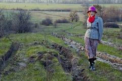 Девушка в willage Стоковые Фотографии RF