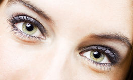 девушка глаза Стоковое Фото