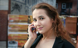 девушка города Стоковые Изображения RF