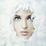 Девушка лебедя Стоковая Фотография RF