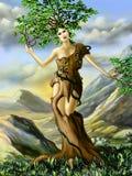 Девушка дерева Стоковое Изображение RF