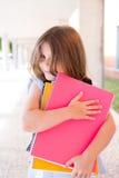 Девушка держа книги Стоковое Изображение RF