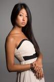 Девушка детенышей портрета довольно азиатская Стоковое Изображение RF
