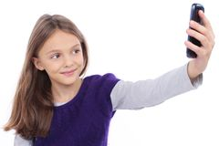 Девушка делая selfie Стоковое Изображение RF