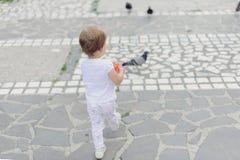 Девушка и вихруны Стоковое Фото