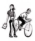 Девушка и молодой человек Стоковое фото RF