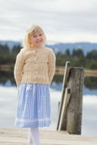 Девушка и традиционное платье Стоковые Изображения RF