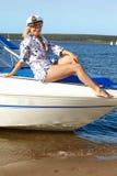 девушка капитана Стоковая Фотография RF