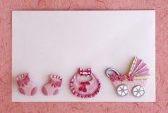 девушка карточки младенца объявления Стоковая Фотография RF