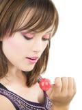 девушка конфеты Стоковое Изображение