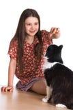 девушка кота пушистая немногая Стоковое Изображение