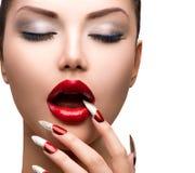 Девушка красоты моды сексуальная модельная Стоковое Фото