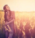 Девушка красоты напольная Стоковое Изображение
