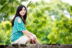Девушка красоты романтичная Outdoors Стоковое Изображение RF