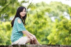 Девушка красоты романтичная Outdoors Стоковые Фотографии RF