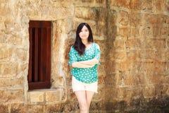 Девушка красоты романтичная Outdoors Стоковое Изображение