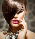 Девушка красоты сексуальная модельная Стоковое Фото