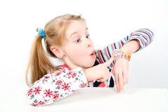 девушка меньшяя милая студия съемки Стоковое Фото