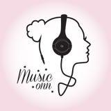 Девушка музыки Стоковое Фото