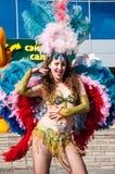 Девушка на торжестве города Стоковая Фотография