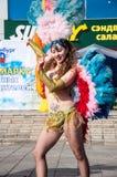 Девушка на торжестве города Стоковые Фотографии RF