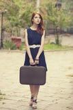 Девушка на улице. Стоковая Фотография RF