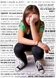 девушка несчастная Стоковое Изображение RF
