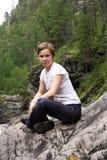 девушка ослабляя Стоковая Фотография RF