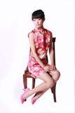 девушка платья китайца традиционная Стоковое Изображение RF